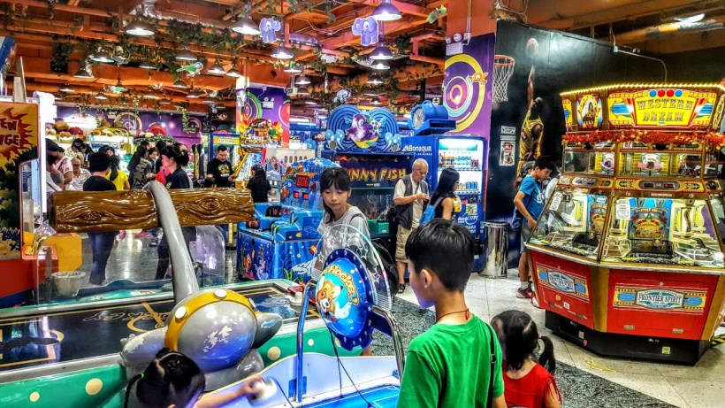 GAMES AND GAMES GREET YOU AS YOU ENTER SKY FANTASIA OF DRAGON CENTRE AT THE 9TH FLOOR