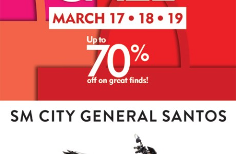 SM City General Santos invites you to their first Grand 3-Day Sale for 2017