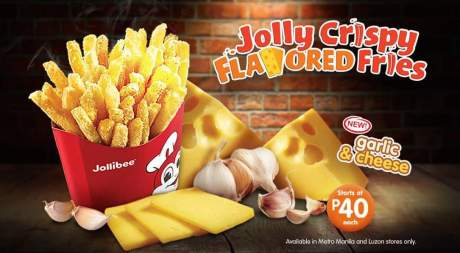 jolly crispy fries in cheese & garlic