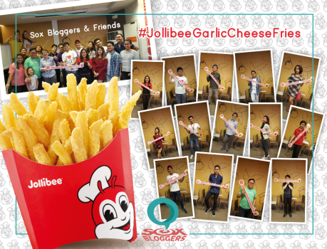 sox bloggers & jolly crispy fries in cheese & garlic