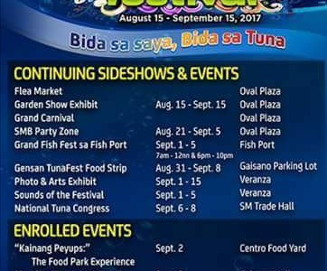 Gensan Tuna Festival 2017 Schedule of Activities released