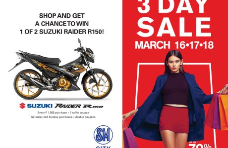 Huge bargains at SM City Gensan's 3-Day Madness Sale (March 16-18, 2018)