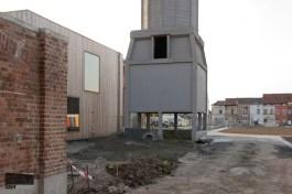 Wijkcentrum De Porre en de voormalige koeltoren