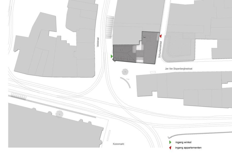 Abscis Architecten - Schuurkensstraat - inplanting