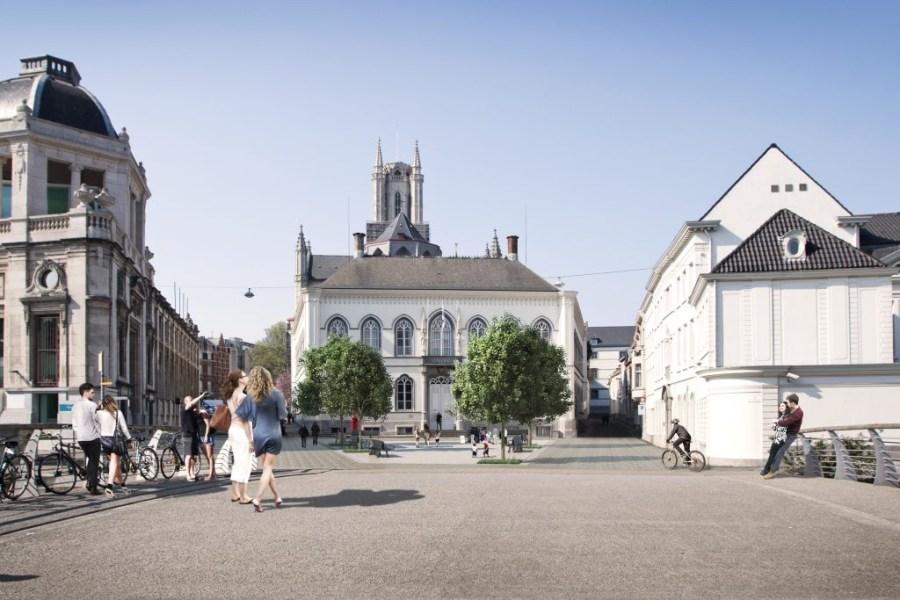 Zo zal het Bisdomplein eruitzien vanaf de zomer van 2017.