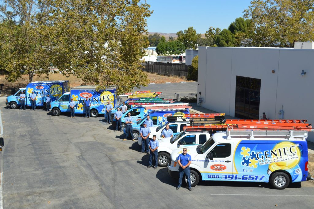 Gentec Employees And Truck Fleet