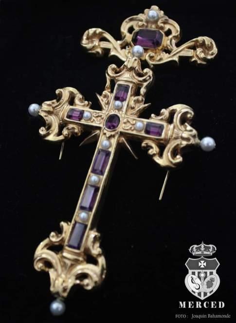 Cruz Pectoral de la Virgen de los Dolores de los Judíos de Huelva