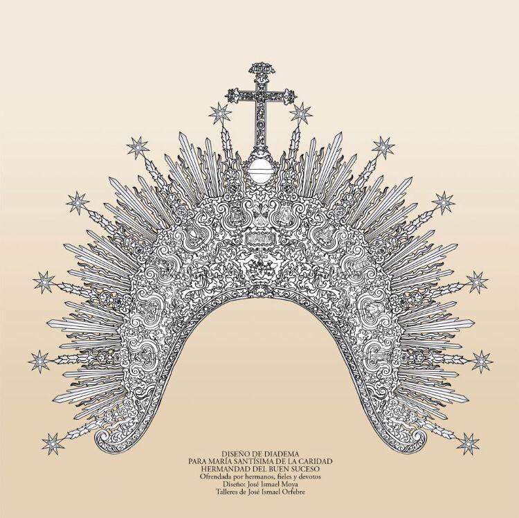 La Virgen de la Caridad incorporará una magnífica diadema a su ajuar, donada por un grupo de hermanos y devotos