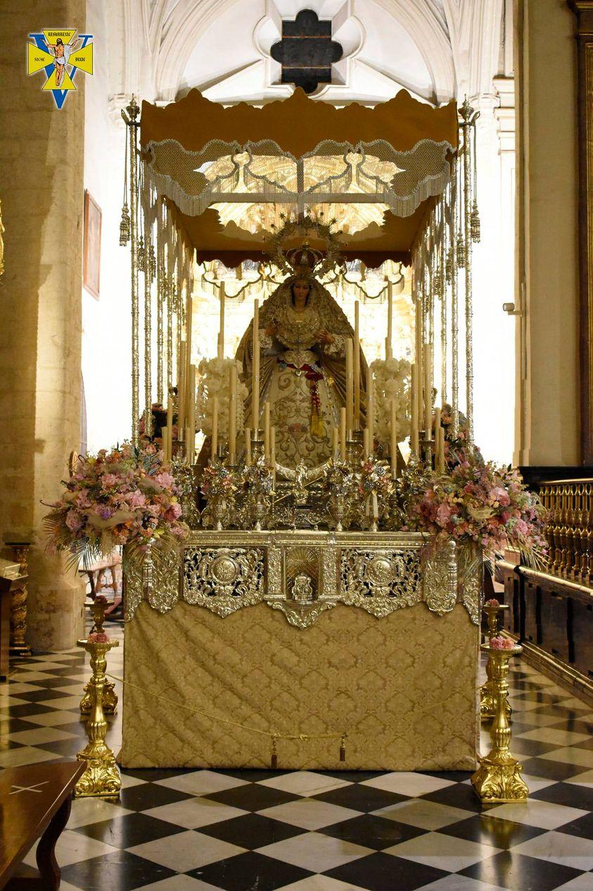 La Virgen de la Victoria amanece bajo su ansiado palio