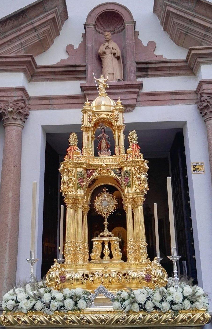 San Gonzalo cede su custodia procesional para la muestra «Pange lingua. Custodias de Sevilla»