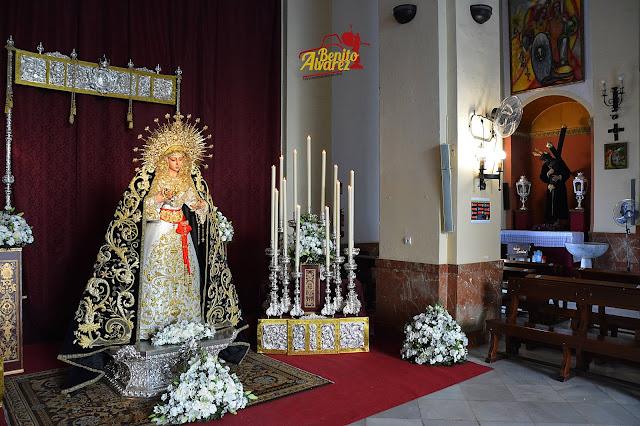 La Virgen de los Dolores de San José Obrero protagoniza una elegante Veneración