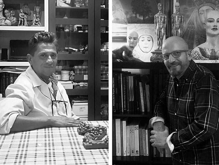 David Romero y Francisco Rovira, del Taller Daroal, cartelistas de la Esperanza de Triana de 2022