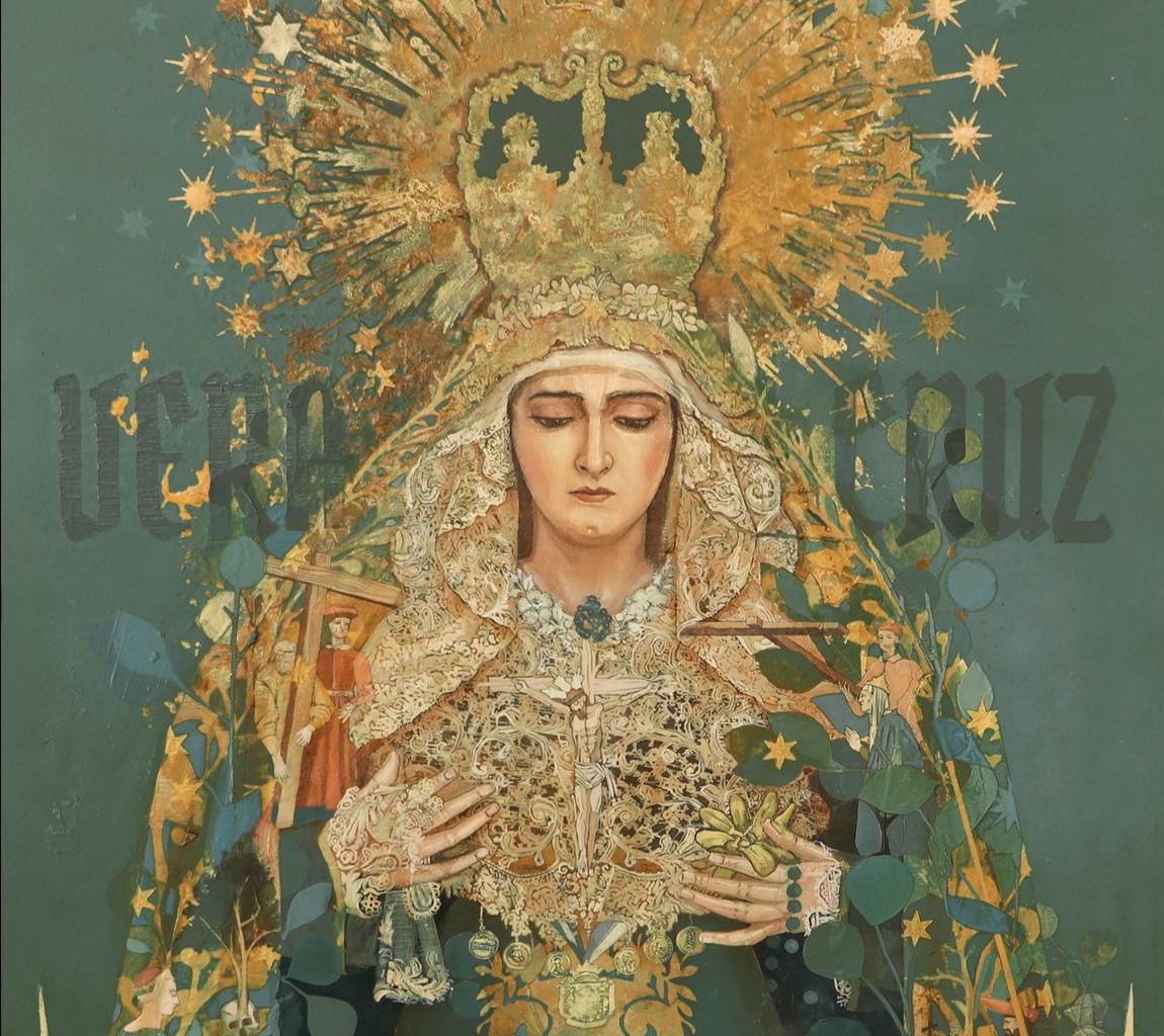 Jesús Zurita retrata con  maestría los 50 años de la Coronación de las Angustias de Alcalá del Río