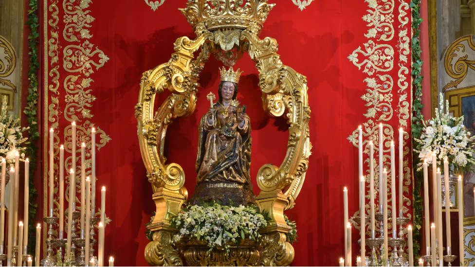 La Virgen de la Victoria será trasladada en andas desde la Catedral hasta su Basílica