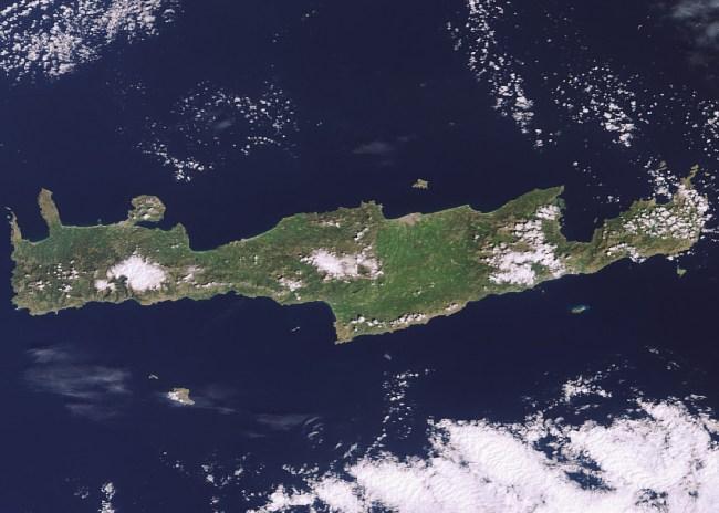Μόνο από τον δορυφόρο βλέπετε την Κρήτη…