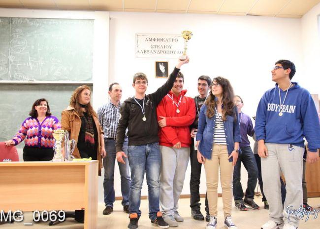 Πρωταθλητής Κρήτης το 2ο γυμνάσιο Ηρακλείου παρουσίας 3 σκακιστών του ΟΦΗ