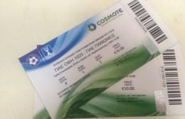Σε κυκλοφορία τα εισιτήρια του αγώνα με τον Πανιώνιο