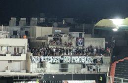 """Οι οπαδοί του ΟΦΗ """"τρολάρουν"""" τα κλειστά γήπεδα: """"Νo ticket, no problem"""""""