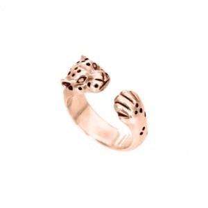 Anello leopardo con galvanica in oro rosa