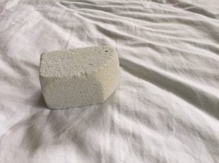 I used this pumice stone to rough up the crispy cotton sheets to make them softer.