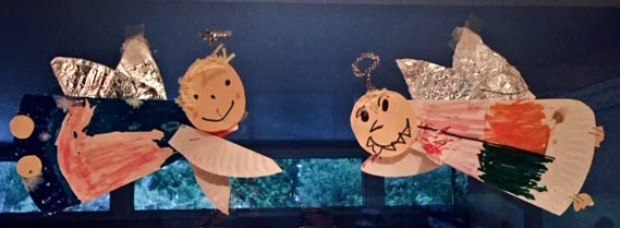 Christmas Angels my children made years ago out of paper plates