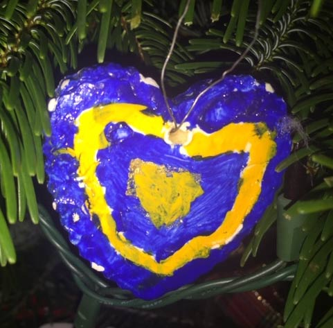 Heart ornament my kids made