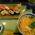 お得・お値打ち!寿司とうどん等のランチセットが税込み850円!