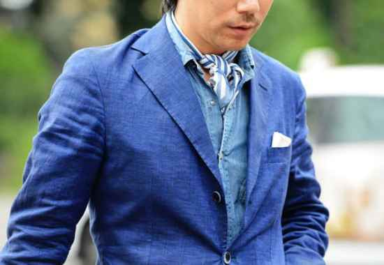 Linen Jacket and denim shirt