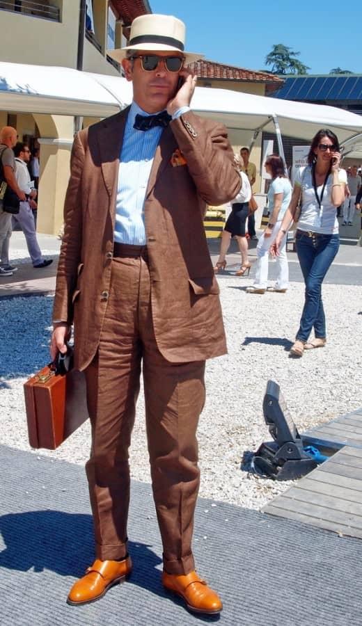 Wrinkled Linen Suit via Stile Maschile