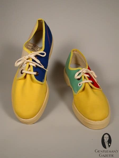 Colorful canvas summer shoes
