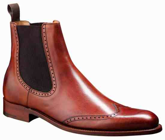 Barker Luxembourg Chelsea Boot with Brogueing