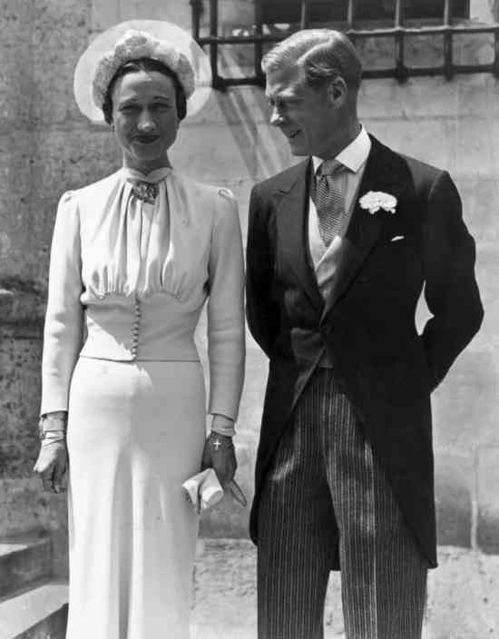 Duke & Duchess of Windsor on their wedding day in morning dress