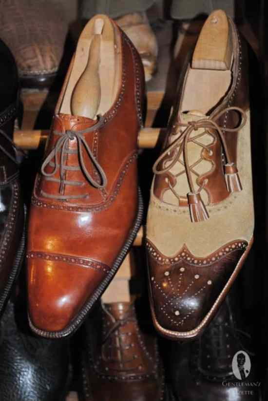 Half Brogue without Medallion & two tone Ghillie brogue shoe by Ugolini