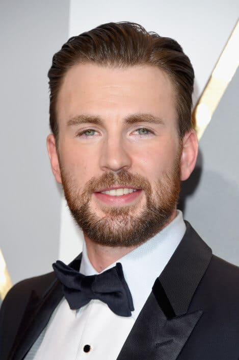 Chris Evans with pre-tied bow tie