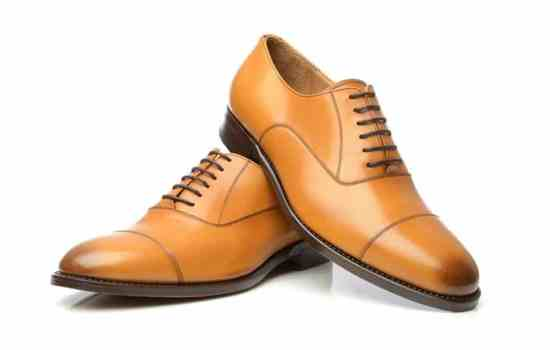 Tan Cap Toe Oxford without Heel Cap and 6 eyelets with burnished cap toe - No 549 by Shoepassion