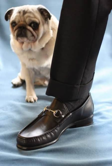 Classic Gucci Loafers in Black Leather