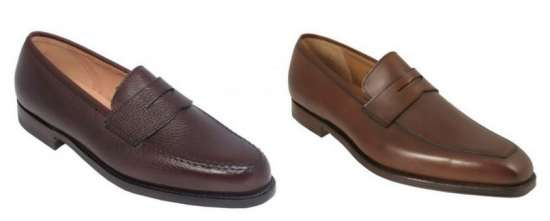 Crockett & Jones Penny Loaffer Model Boston in Scotch grain calf on a classic Last & Variation Mertin on a more modern last