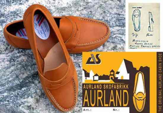 The Aurland Loafer from Norway & Hand Drawn Moccasin Model for Reorder by Gardner