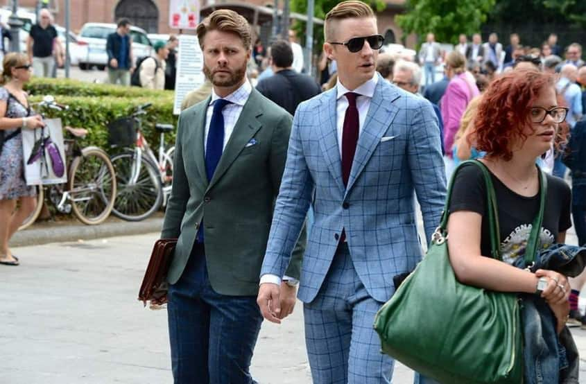 Short coats and slimmer ties