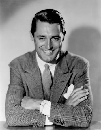 Cary Grant with Collar pin, Reverso and glencheck suit