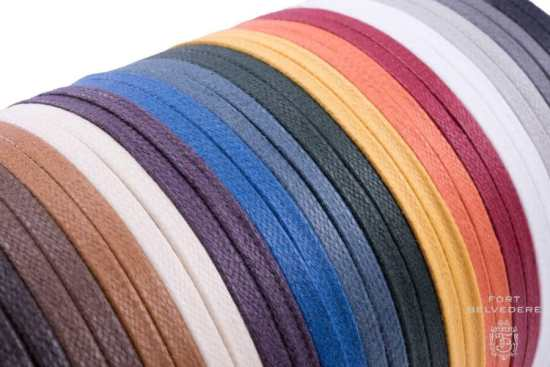 Color Swatches of Flat Waxed Cotton - Luxury Dress Shoe Laces by Fort Belvedere - Made In Italy