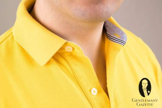 Ribbed Polo Shirt Collar