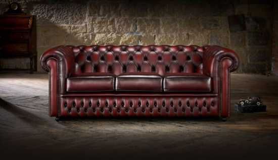 A traditional Chesterfield in a modern space