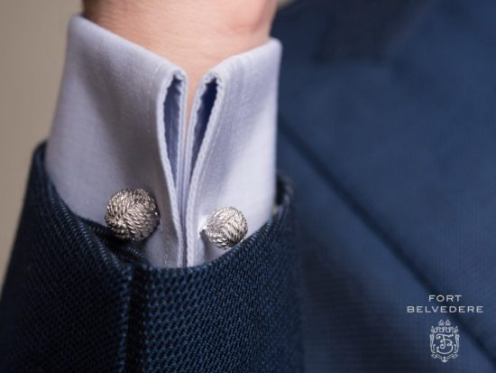 Monkeys Fist Knot Cufflinks - 925 Sterling Silver Platinum Plated - Fort Belvedere
