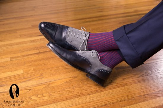 Stand out in this pair of spectator shoes