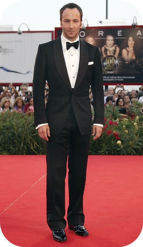 Younger Tom Ford in a more modern Shawl Collar Tuxedo