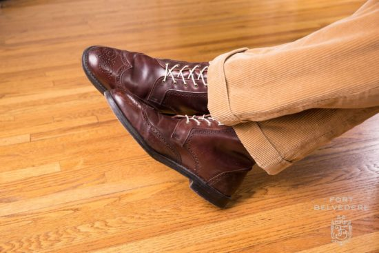 Dalton boots from Allen Edmonds with Off White Fort Belvedere Boot laces with Cords