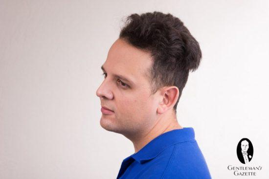 Sven Raphael Schneider's unstyled hair