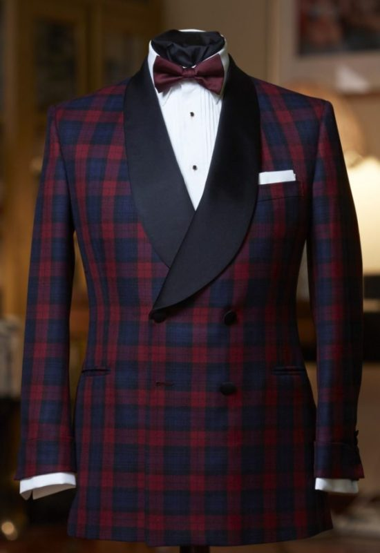Tartan Shawl Collar Dinner Jacket