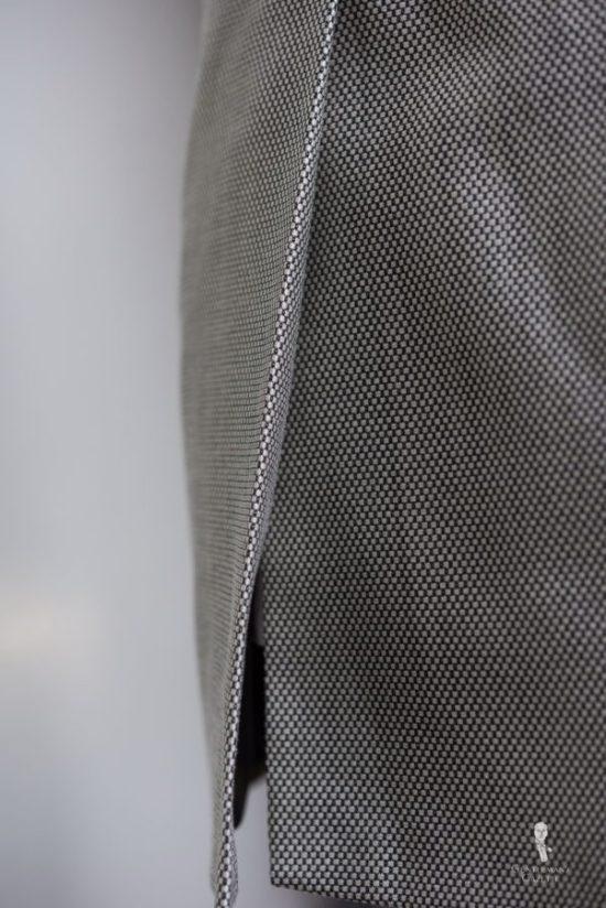 Suit jacket vent up close